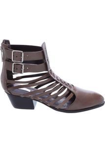 Ankle Boot Tiras Mineral Gray | Schutz