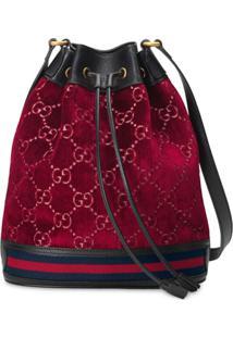 Gucci Gg Drawstring Bucket Bag - Vermelho