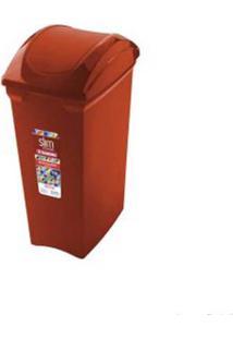 Lixeira Basculante Slim 15 Litros Vermelha Sanremo
