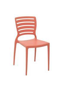 Cadeira Tramontina 92237160 Sofia Hz Encosto Vazado Horizontal Rosa Coral
