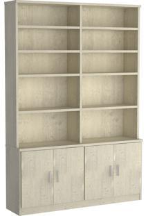 Estante Livraria 4 Portas 1283 Marfim Areia Foscarini