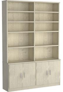 Estante Livraria 4 Portas 1283 Marfim Areia M Foscarini