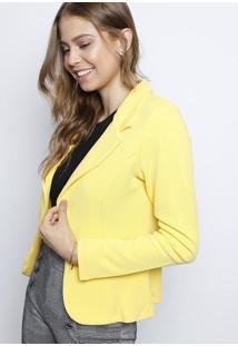 Blazer Com Recortes- Amarelo- Dulce Colornolitta