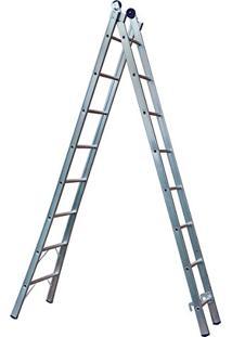 Escada Extensiva De Alumínio 2 X 8 Com 16 Degraus-Mor-005163