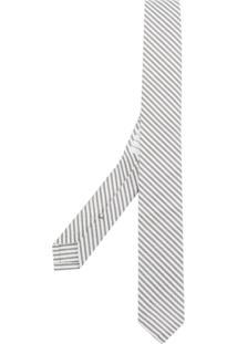 Thom Browne Gravata Listrada - Cinza
