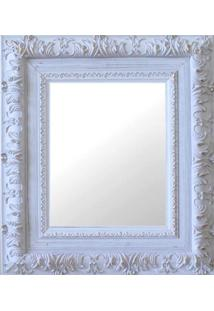 Espelho Moldura Rococó Externo 16274 Branco Patina Art Shop