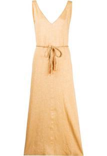 Forte Forte Vestido Com Textura E Amarração - Amarelo