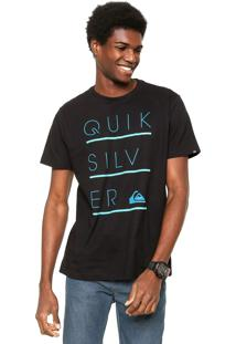 Camiseta Quiksilver Three Lines Preta
