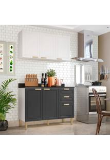 Cozinha Compacta Nevada Iv 5 Pt 3 Gv Branca E Grafite