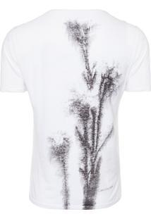 Camiseta Masculina Básica Estampa - Branco