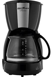 Cafeteira Elétrica Até 30 Xícaras Inox Preta Cp30 Britânia - 220V