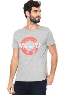 Camiseta Tommy Hilfiger Direct Circle Cinza