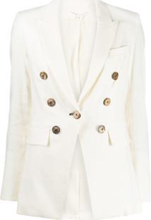 Veronica Beard Button Embellished Blazer - Neutro