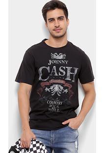 Camiseta Cavalera Cash Masculina - Masculino-Preto