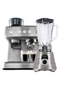 Kit Cafeteira Espresso Xpert E Liquidificador New Osterizer Aço Escovado 220V