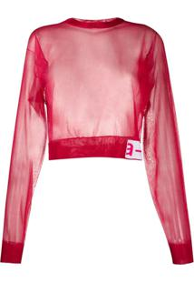 Artica Arbox Blusa Cropped Translúcida - Rosa