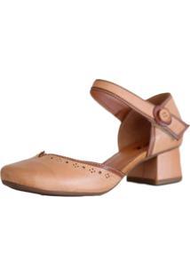 Sapato Boneca Zpz Salto Grosso Quadrado Estilo Retrô Vintage