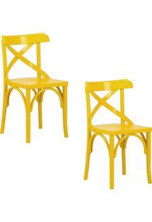Kit 2 Cadeiras Decorativas Gran Belo Crift Amarelo