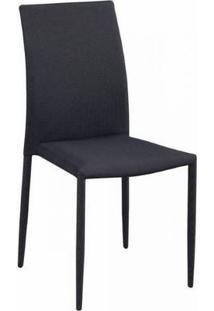 Cadeira Amanda Tecido Cinza Com Preto Rivatti