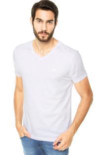 Camiseta Iódice Denim Logo Bordado Branca