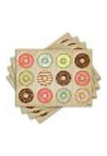 Jogo Americano - Donuts Com 4 Peças - 303Jo