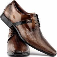 a19995293 Sapato Social Gofer Com Cadarço Em Couro Legítimo Masculino - Masculino -Marrom