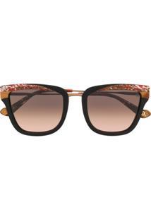 Etnia Barcelona Óculos De Sol Quadrado - Preto