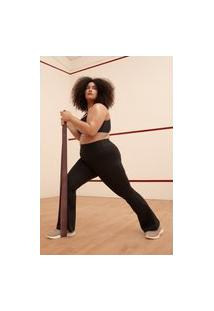 Calça Flare Bailarina Plus Size Preto