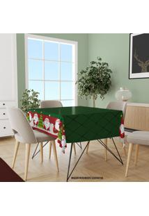 Toalha De Mesa Quadrada Para 4 Lugares Papai Noel Fofinho 1.45M X 1.45M ÚNico - Multicolorido - Dafiti