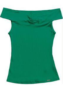 Blusa Com Decote Ombro A Ombro Verde