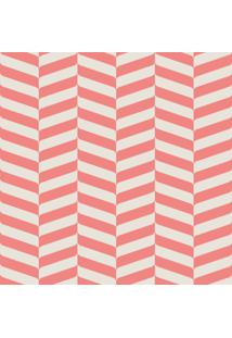 Papel Adesivo Sunset Adesivos De Parede Zig Zag Rosa E Branco - Rolo 6,00 X0,50 M