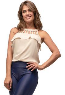 Regata Crepe Mx Fashion Michelle Nude
