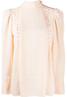 Givenchy Blusa Com Botão Decorativo - Laranja