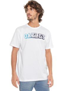 Camiseta Oakley Gradient Letter Branca