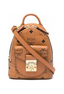 Mcm Mini Patricia Cross Body Bag - Marrom