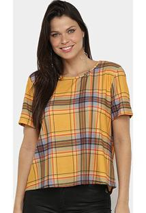 Camiseta Lança Perfume Onça Descolada Feminina - Feminino-Caramelo