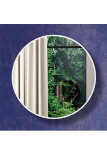 Espelho Redondo 100% Mdf Es9 30 Cm Of White - Dalla Costa
