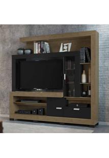 Estante Home Para Tv 55 Polegadas Grand Acácia Avelã E Preto