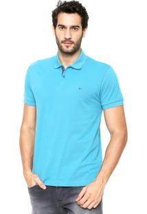 Camisa Polo Aramis Manga Curta Detalhe Azul