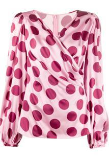 Dolce & Gabbana Polka Dots Blouse - Rosa