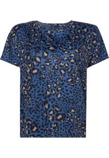 Blusa Le Lis Blanc Leopardo Ii Malha Estampado Feminina (Leopardo Ii, Gg)