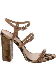 Sandália Salto Thin Stripes Honey | Schutz