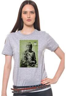 Camiseta Feminina Joss - Buda Sentado - Feminino-Mescla