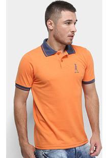 Camisa Polo Derek Ho Friso Caveira Masculina - Masculino-Laranja