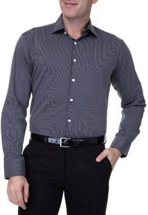 Camisa Social Masculina Upper Preta