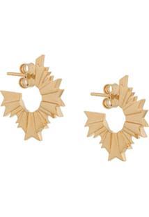 Meadowlark August Hoop Earrings - Dourado