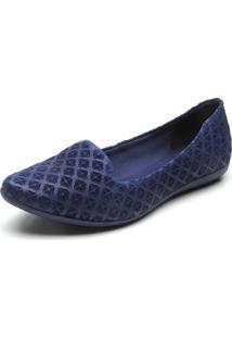 Sapatilha Couro Bottero Textura Azul-Marinho