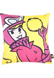 d30ffef2ae923 ... Capa De Almofada Hanna Barbera Poliéster Wacky Race Penélope 45X45Cm  Amarela Rosa