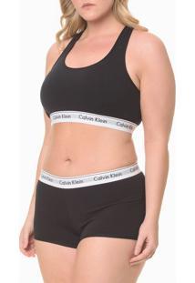 Top Nadador Modern Cotton Plus Size - Preto - 3Xl