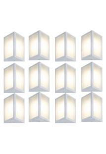 Arandela Triangular Branco Kit Com 12 Casah
